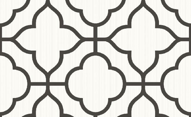 Traditional Ogee Black and White Wallpaper 650x400
