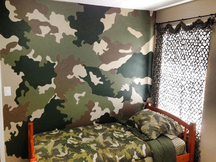 Camo accent wall Boys Bedroom Pinterest Accent Walls and Camo 736x552