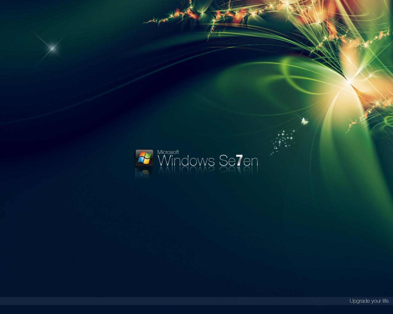 1280x1024 Green Windows 7 desktop PC and Mac wallpaper 1280x1024