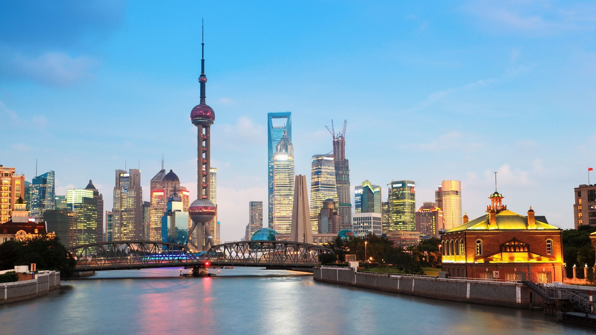 City Shanghai Cityscape Wallpaper HQ Backgrounds HD wallpapers 1920x1080