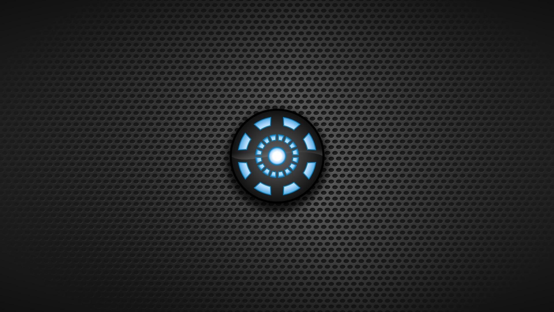 Dark Background Arc Reactor Symbols Blue Seed Wallpaper  X