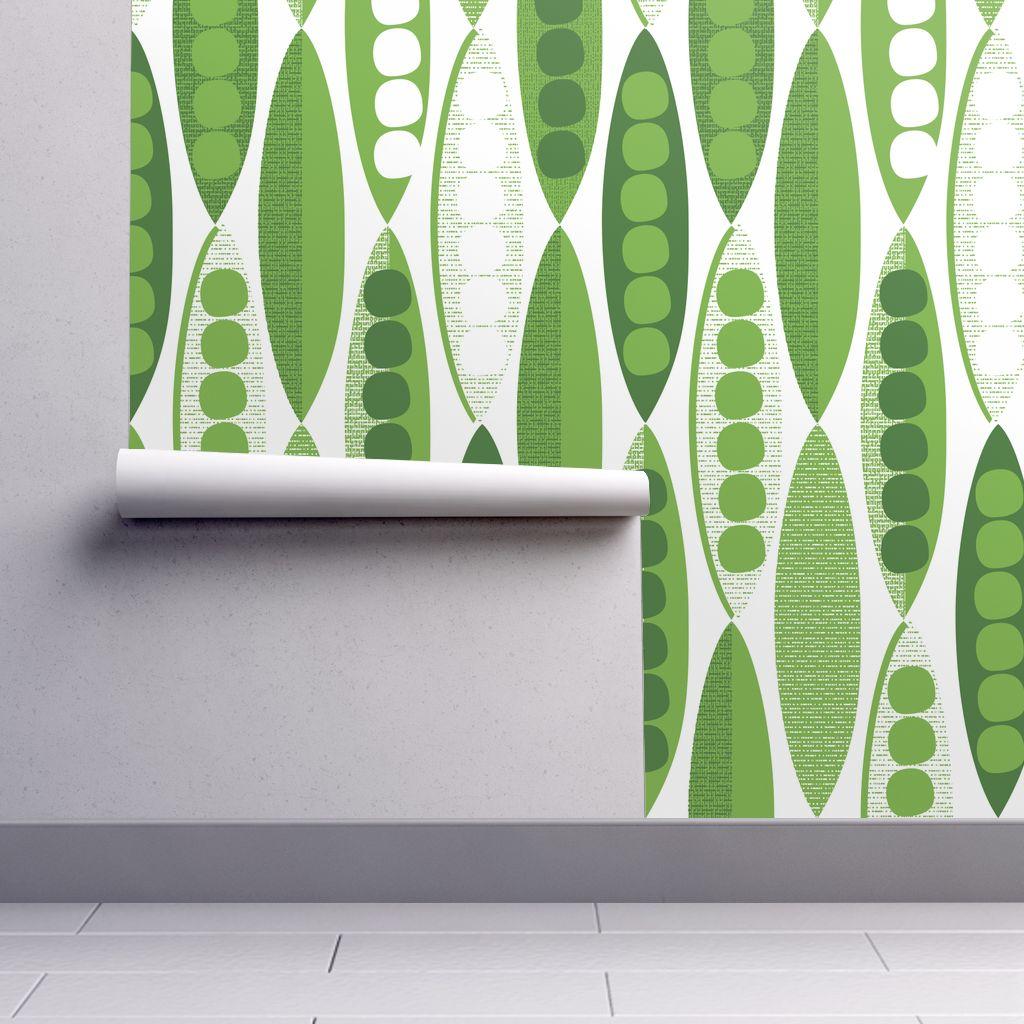 Wallpaper Roll or Sample Mod Modern Pea Pod Peapod Modernist 1024x1024