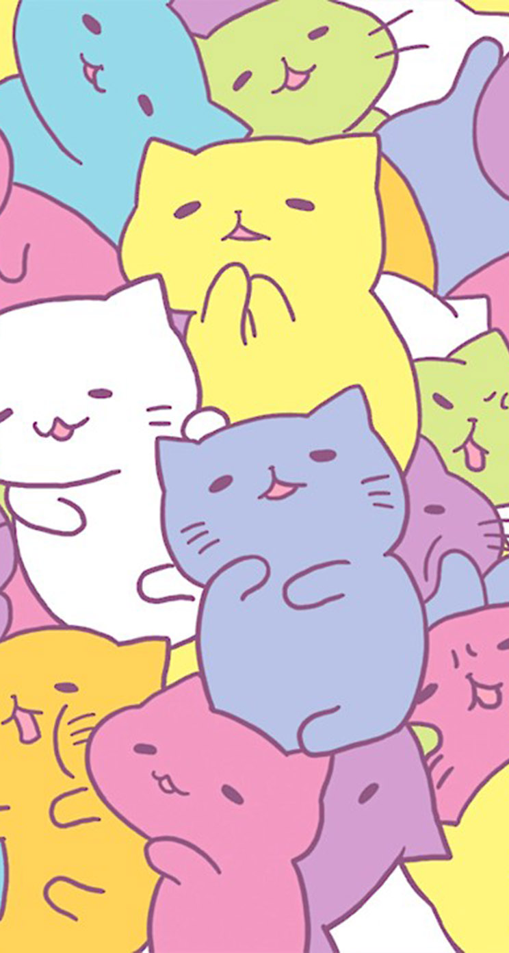 Kawaii cat wallpaper wallpapersafari - Kawaii anime iphone wallpaper ...