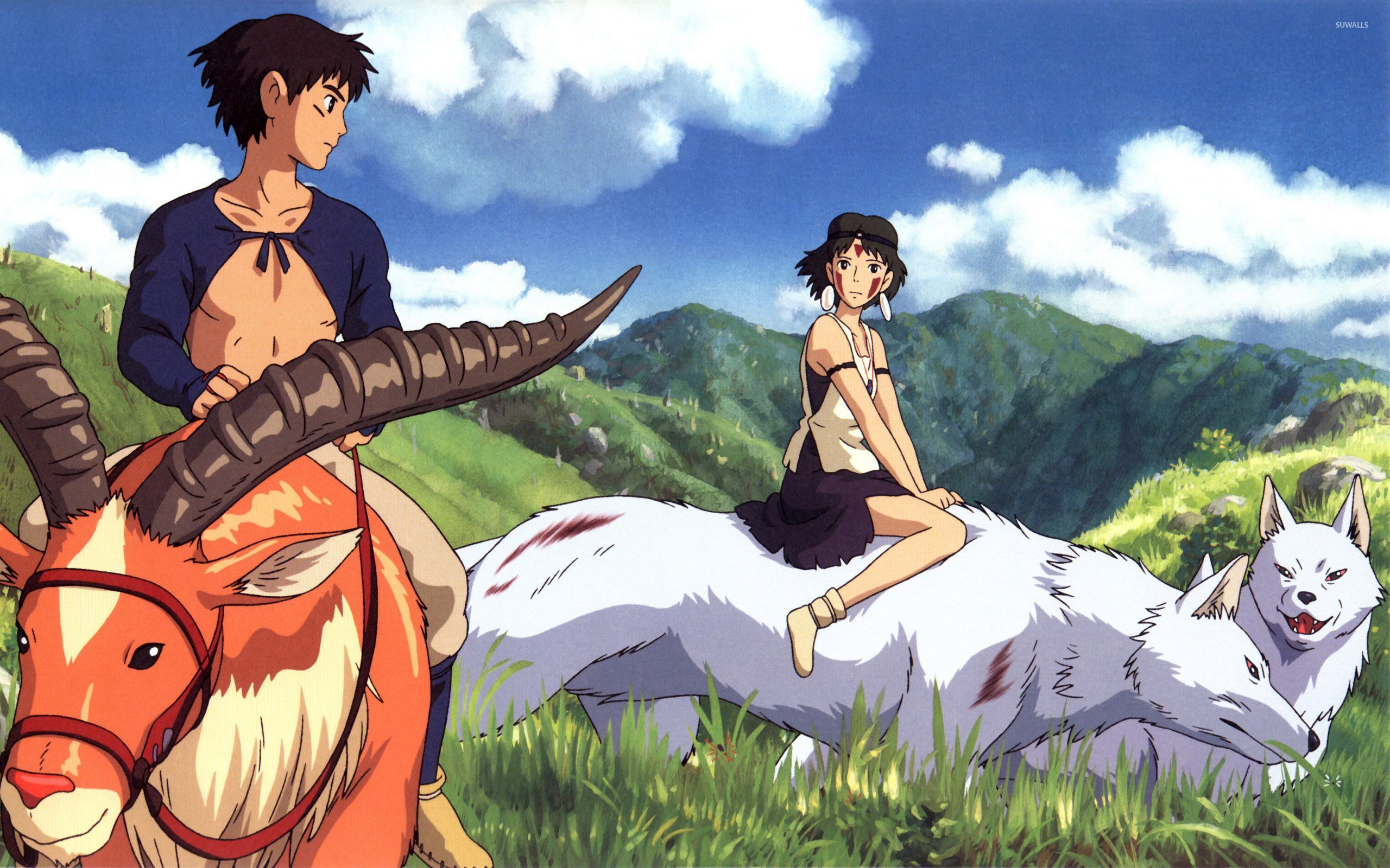 1366x768px anime princess mononoke wallpaper - wallpapersafari