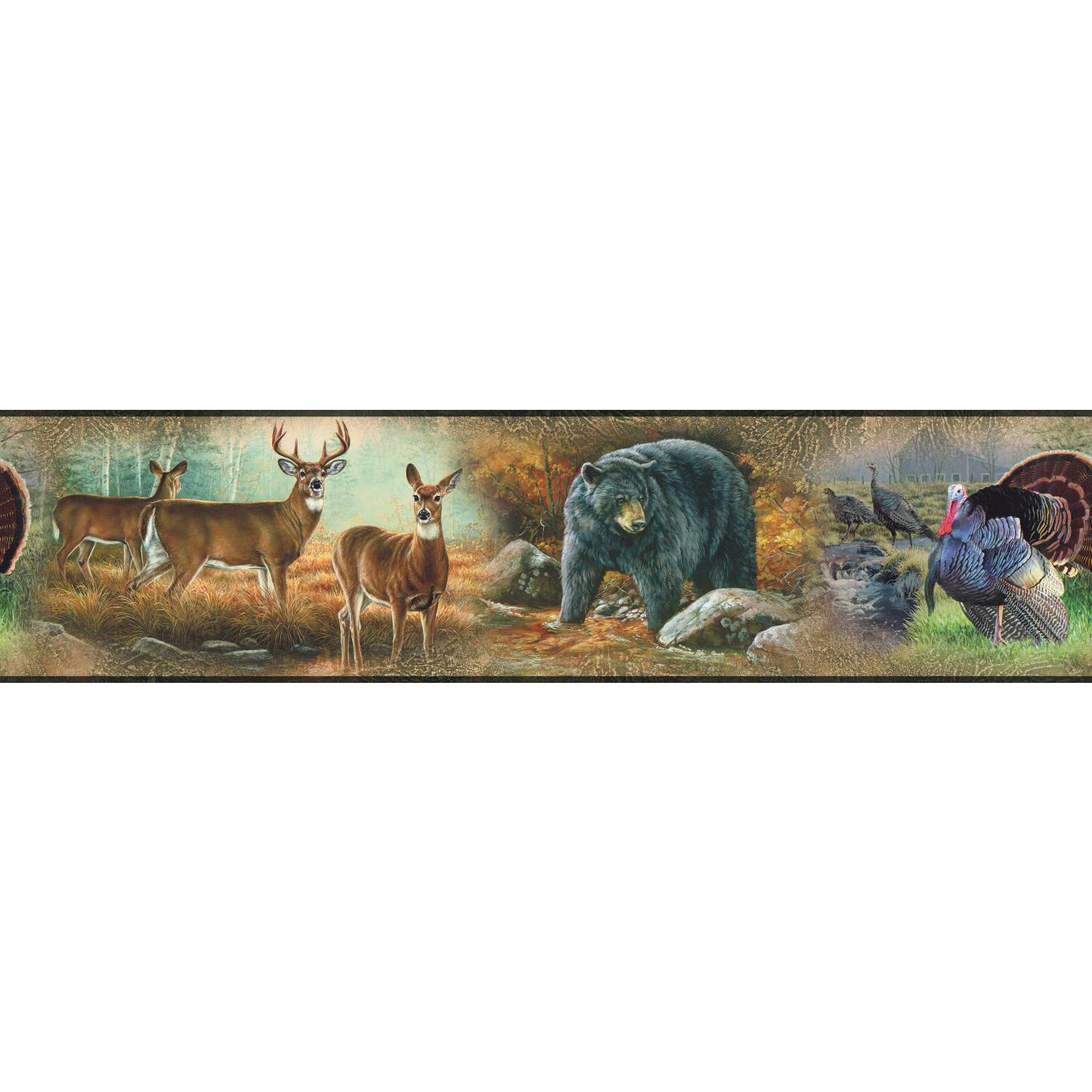 Great Outdoors Wall Border Peel Amp Stick Wallpaper Wildlife Hunting 1500x1500