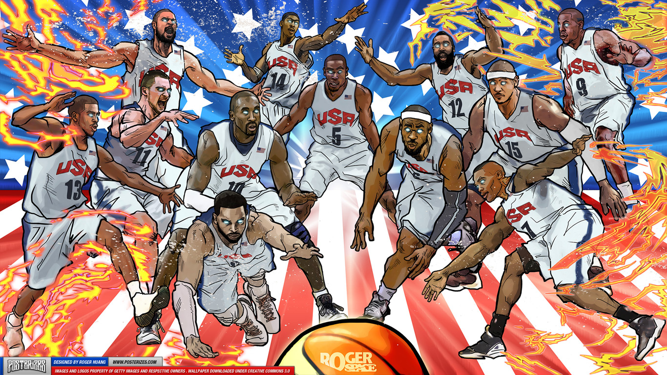 Usa basketball team wallpaper wallpapersafari for Usa wallpaper