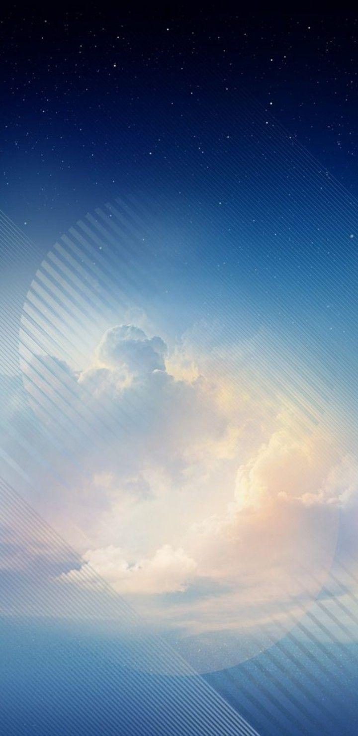 iOS 11 iPhone X Aqua blue sky apple wallpaper iphone 8 720x1480