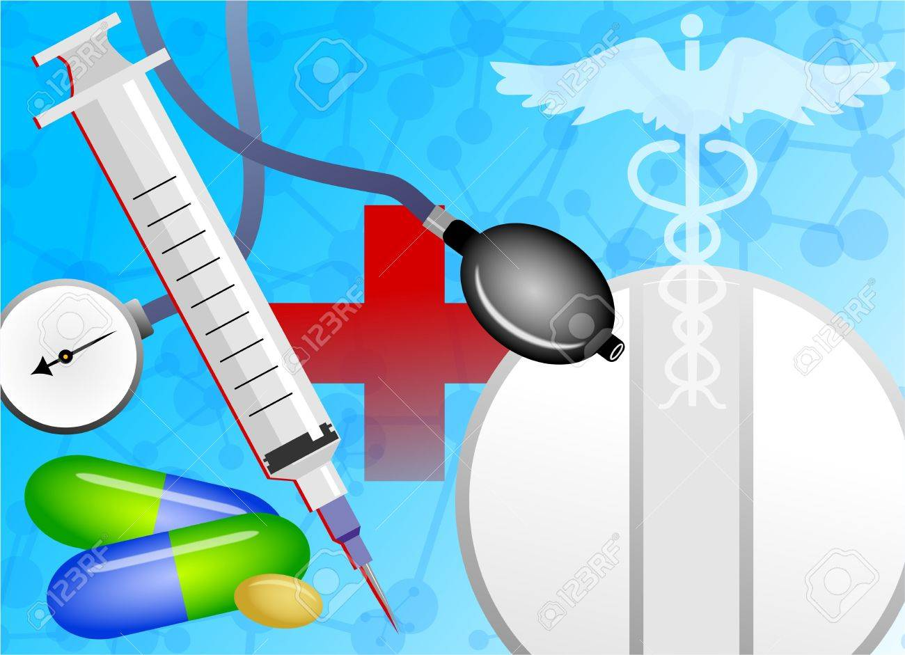 Abstract Medical Background Design With Health Related Objects 1300x941