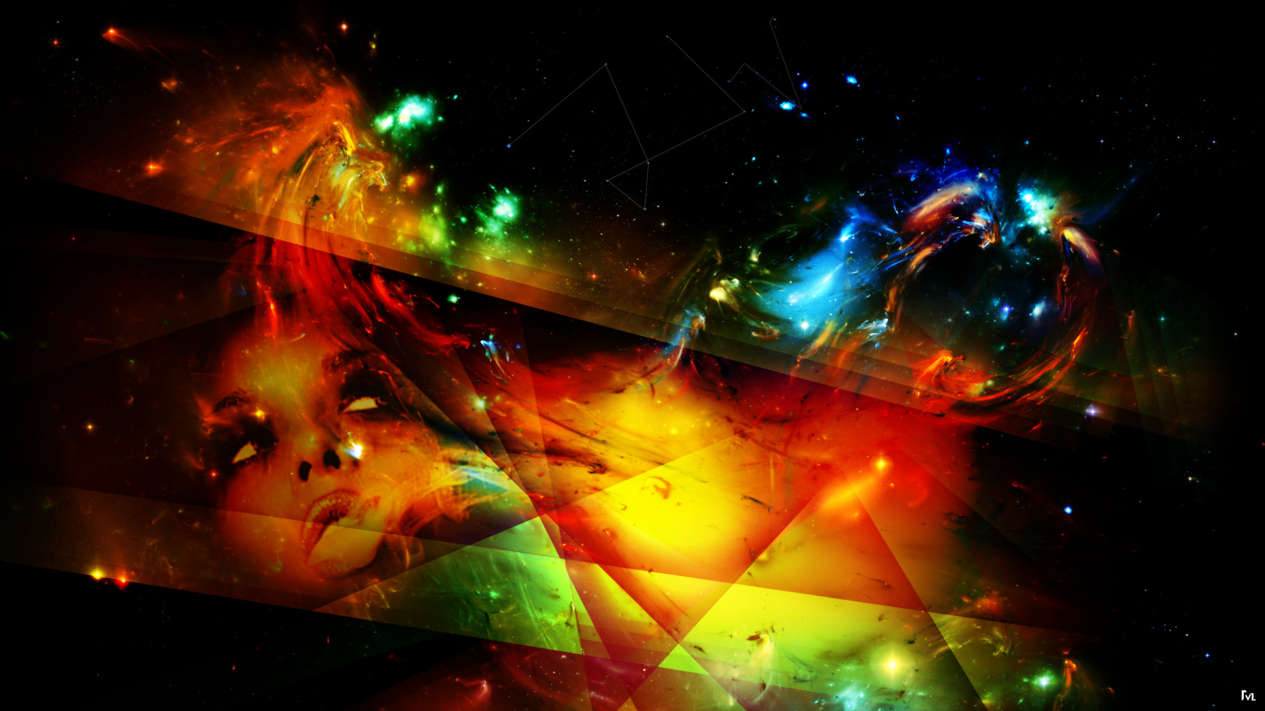 Abstract Art Desktop Wallpapers Widescreen 2560x1440