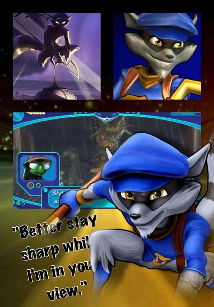 PSASBR Sly cooper wallpaper by Emeraldfire131 746x1070
