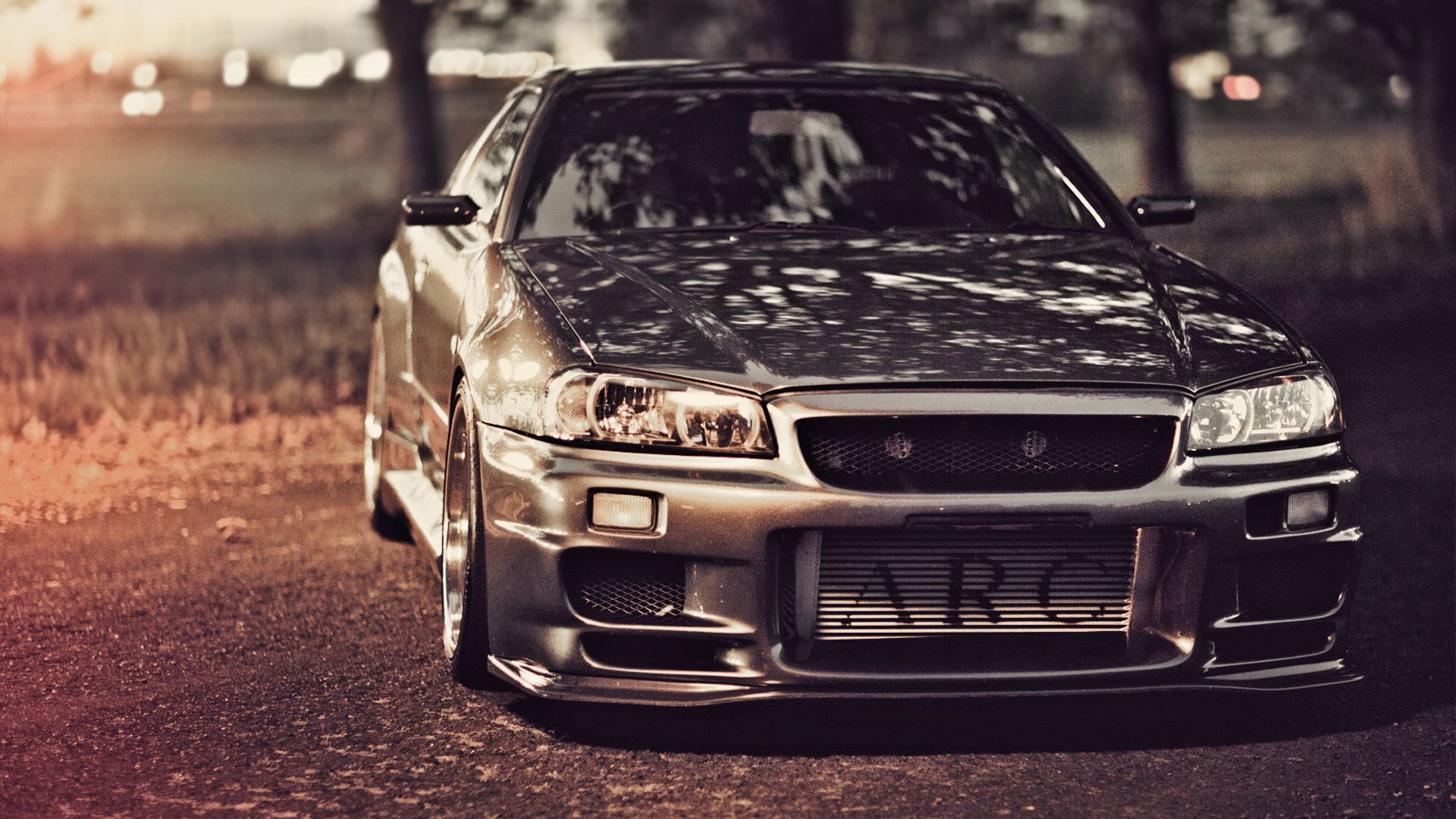 Wallpapers nissan skyline gt r r34 nissan tuning road sky 1920x1080