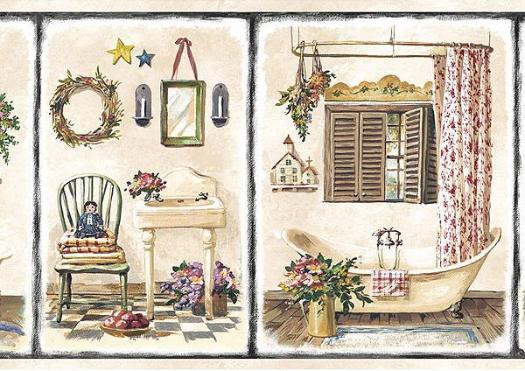 Country Wallpaper Borders For Bathrooms 2015 Grasscloth 525x371