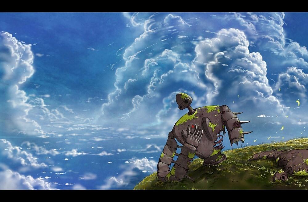 Das Fliegende Schloss Im Himmel