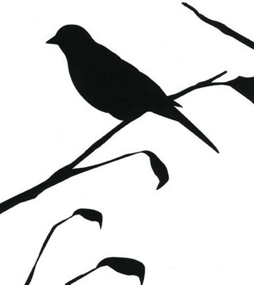 blackbird wallpaper in white design by cavern home blackbird features 520x583