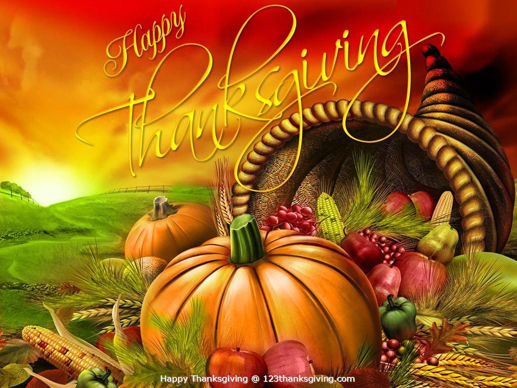 D Thanksgiving Desktop Wallpaper 1024x768 1024x768