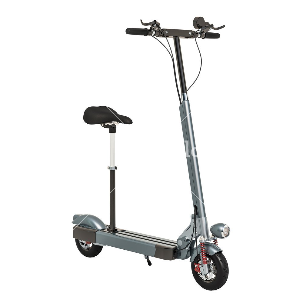 Motorized scooter electric rechargeable scooter 3D rendering 1000x1000