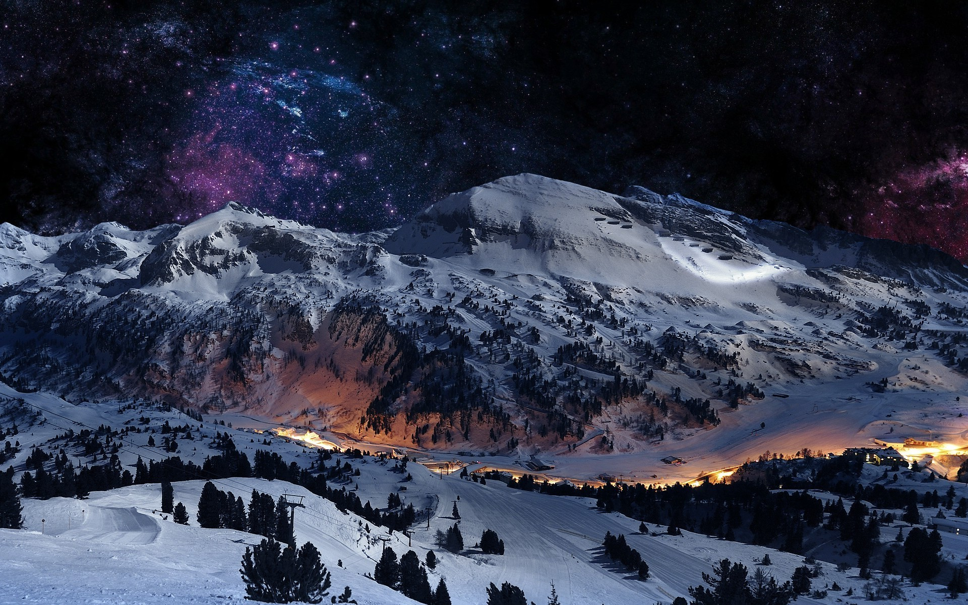 Ski resort Wallpaper 2663 1920x1200