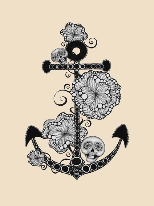Cute pictures of anchors drawings   little mermaid trailer 500x667