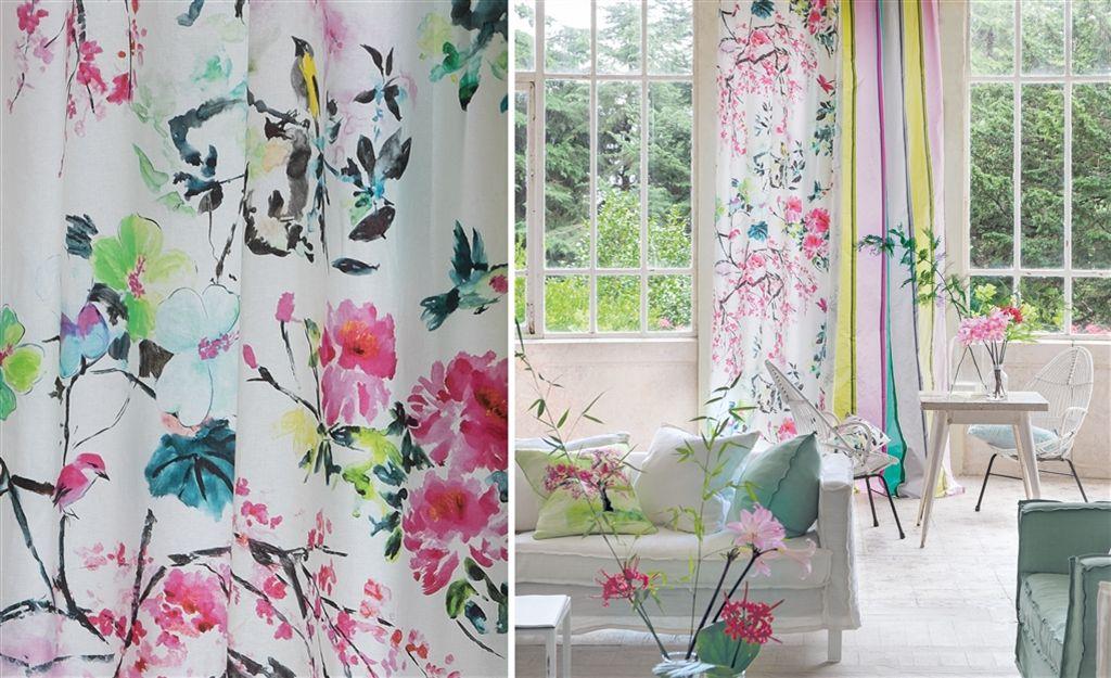 Designers Guild Chinoiserie Flower Fabric Peony FDG230301 1024x625
