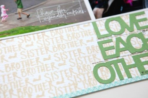Cool stamping tip from Ali Edwards Create your own text background 500x333