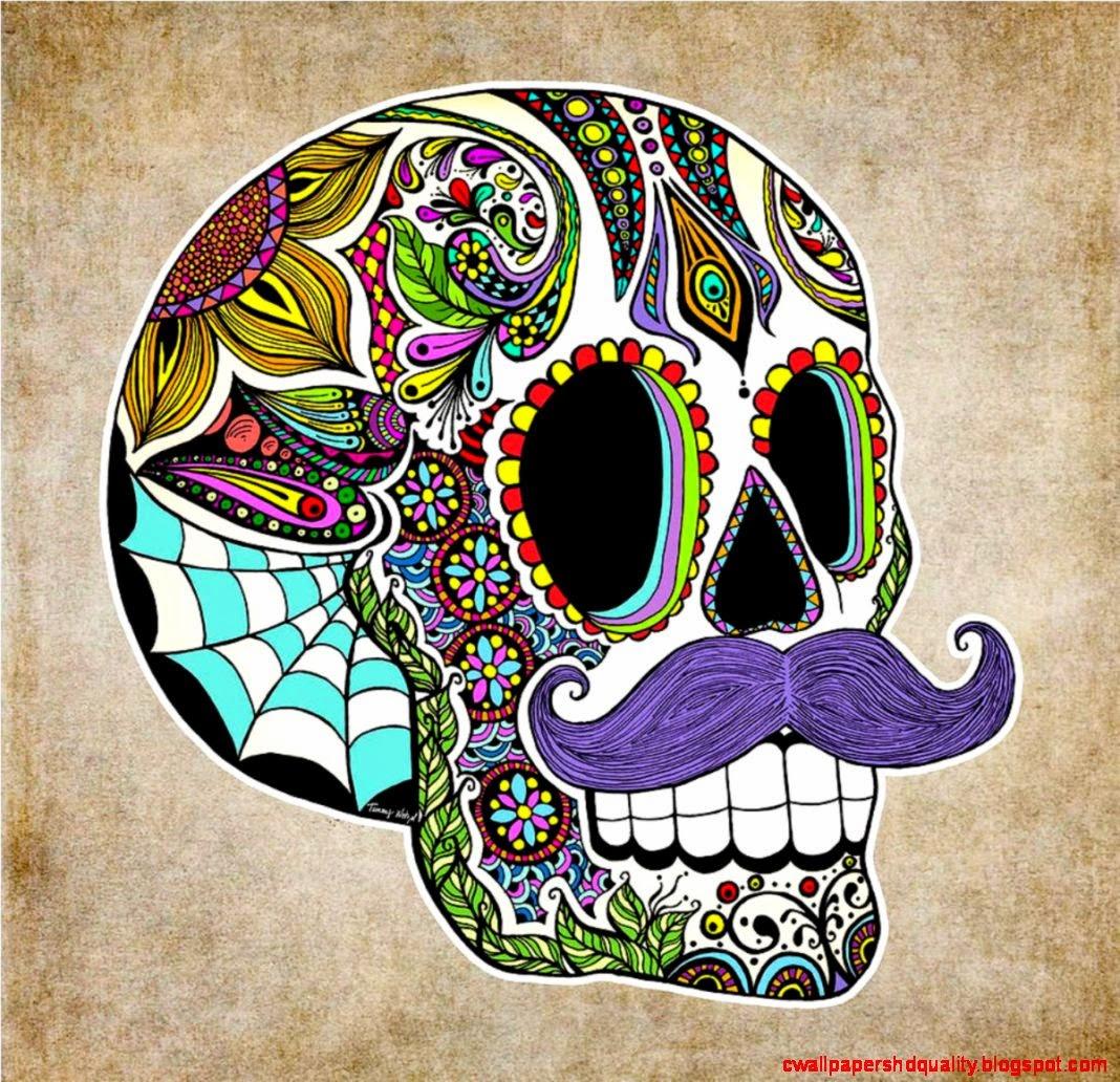 Skull Guitar Wallpaper Hd: Sugar Skull HD Wallpaper