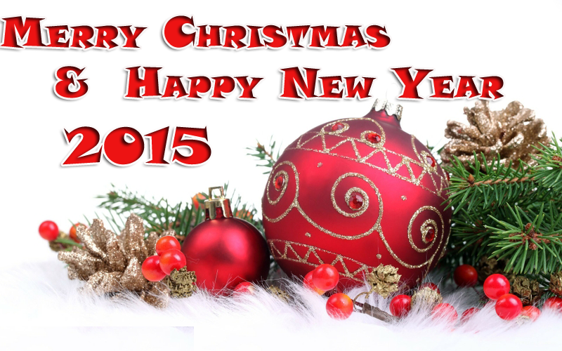 Free Download 2015 Happy New Year Merry Christmas Wallpapers