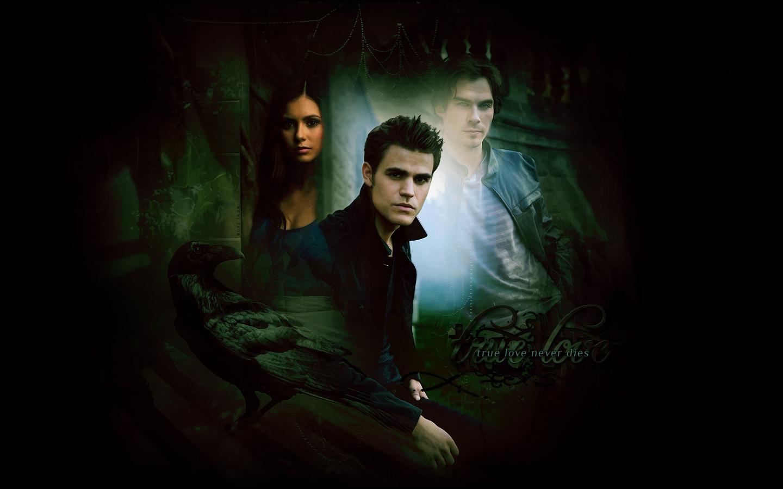 Stefan Elena and Damon   The Vampire Diaries Wallpaper 8414963 1440x900