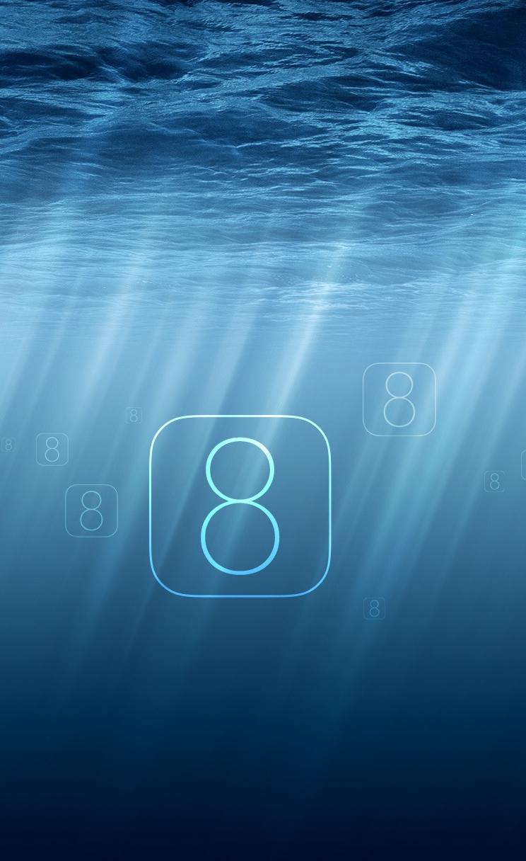 Undersea IOS 8 IPhone 4s Wallpaper Download Wallpapers IPad 744x1216