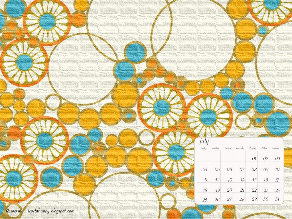 FREE ] July Calendar Wallpaper 1024x768