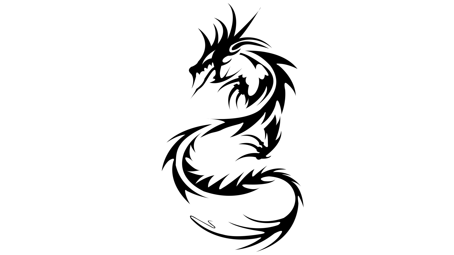Dragon Black And White Tribal Wallpaper   ClipArt Best 1920x1080