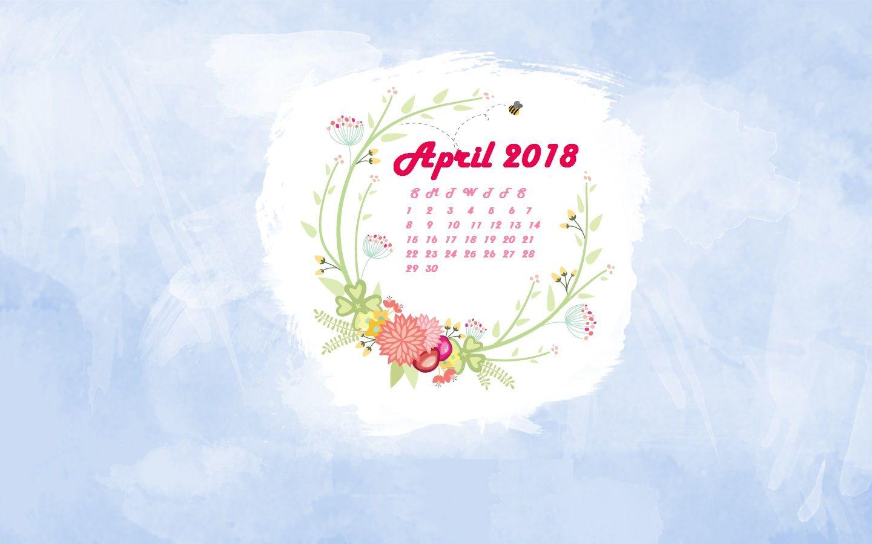April 2018 Calendar Wallpaper MaxCalendars Calendar wallpaper 1440x900