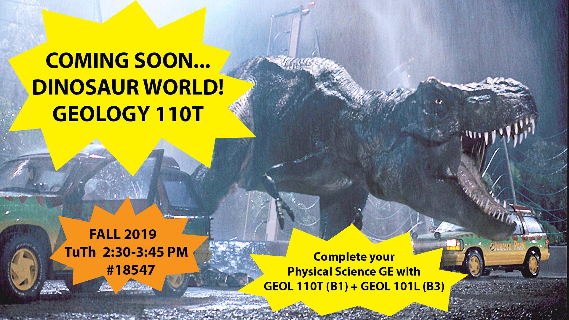 GEOL 110T DINOSAUR WORLD   Geological Sciences CSUF 1920x1080
