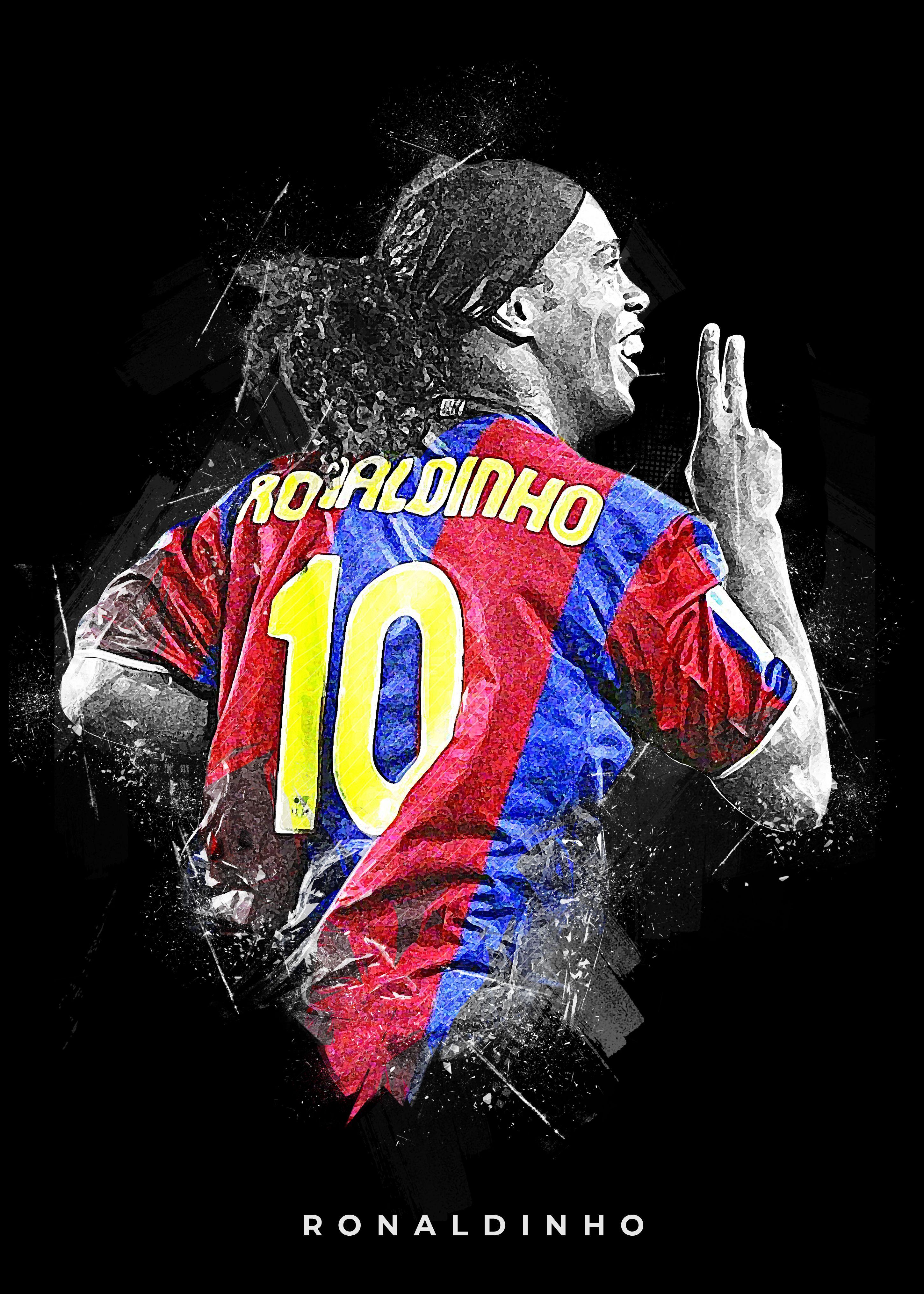 Ronaldinho Barcelona Iconic Art Football illustration Football 2900x4060