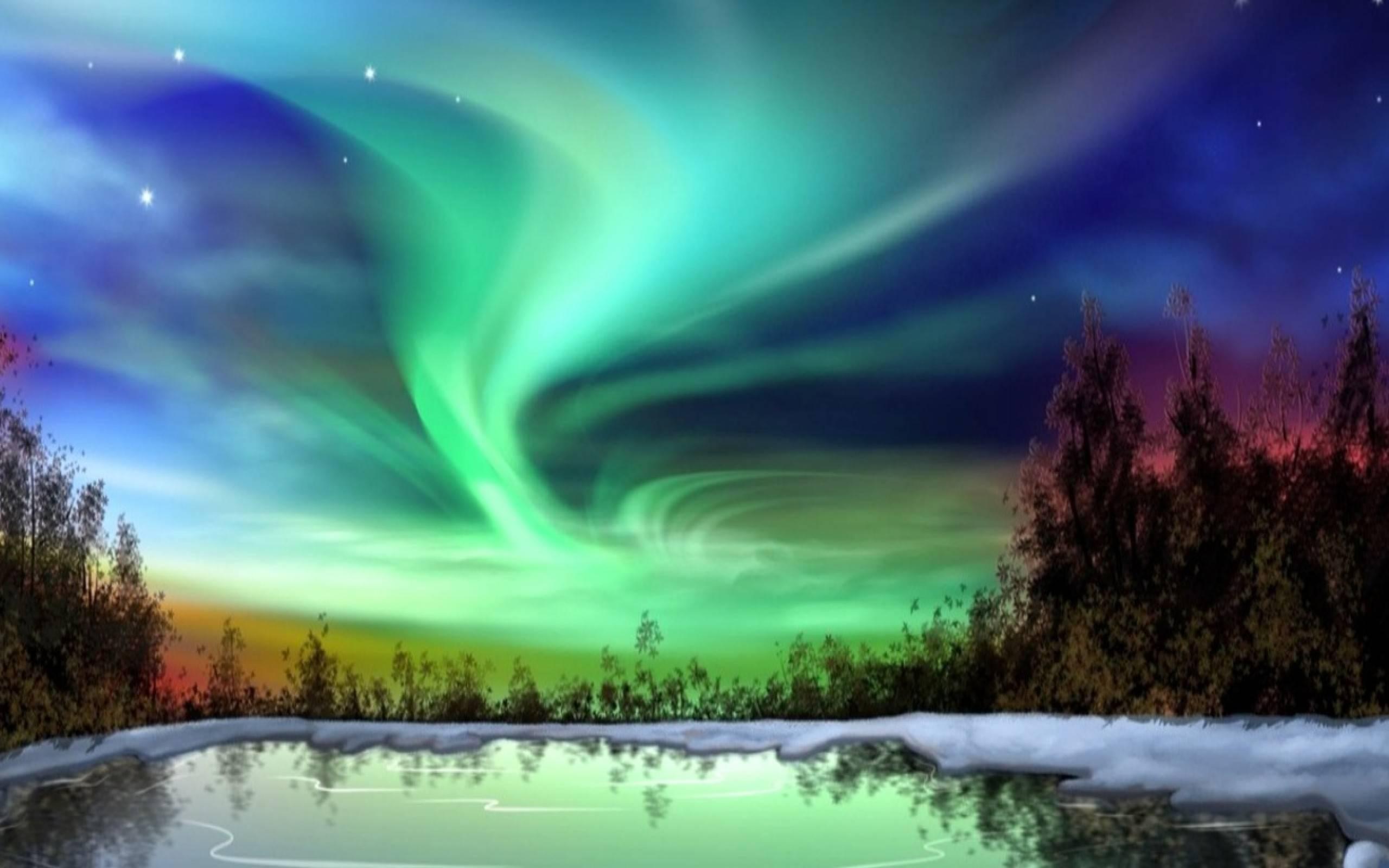 Celestial Aurora Borealis -