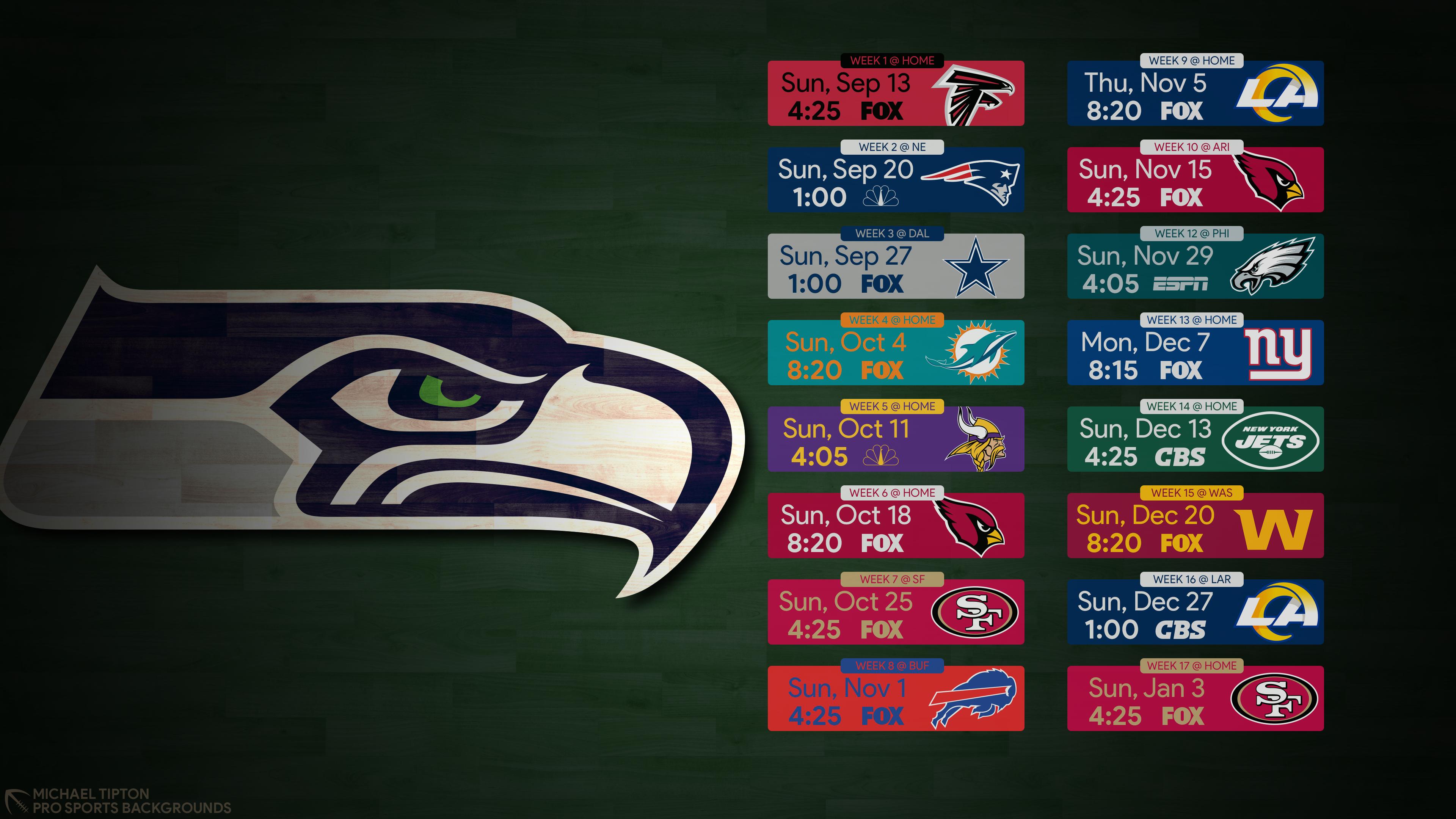 2020 Seattle Seahawks Wallpapers Pro Sports Backgrounds 3840x2160