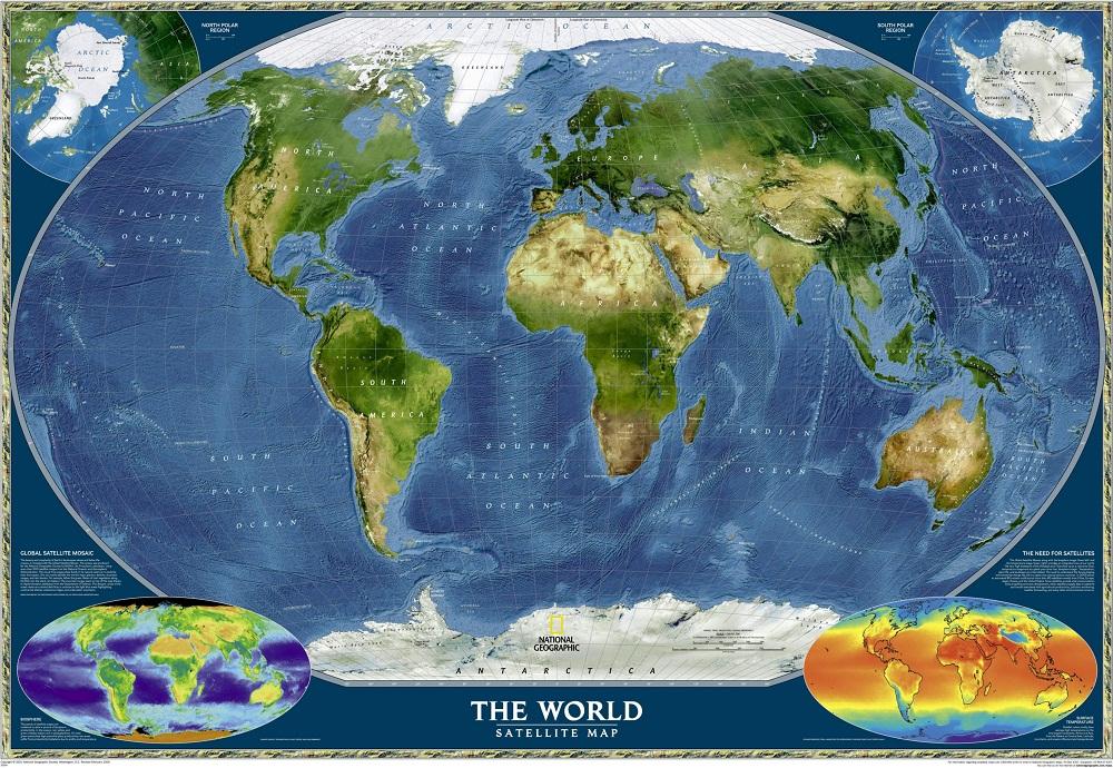 Jual Stiker Dinding Wall Sticker Gambar Peta Dunia 1000x690