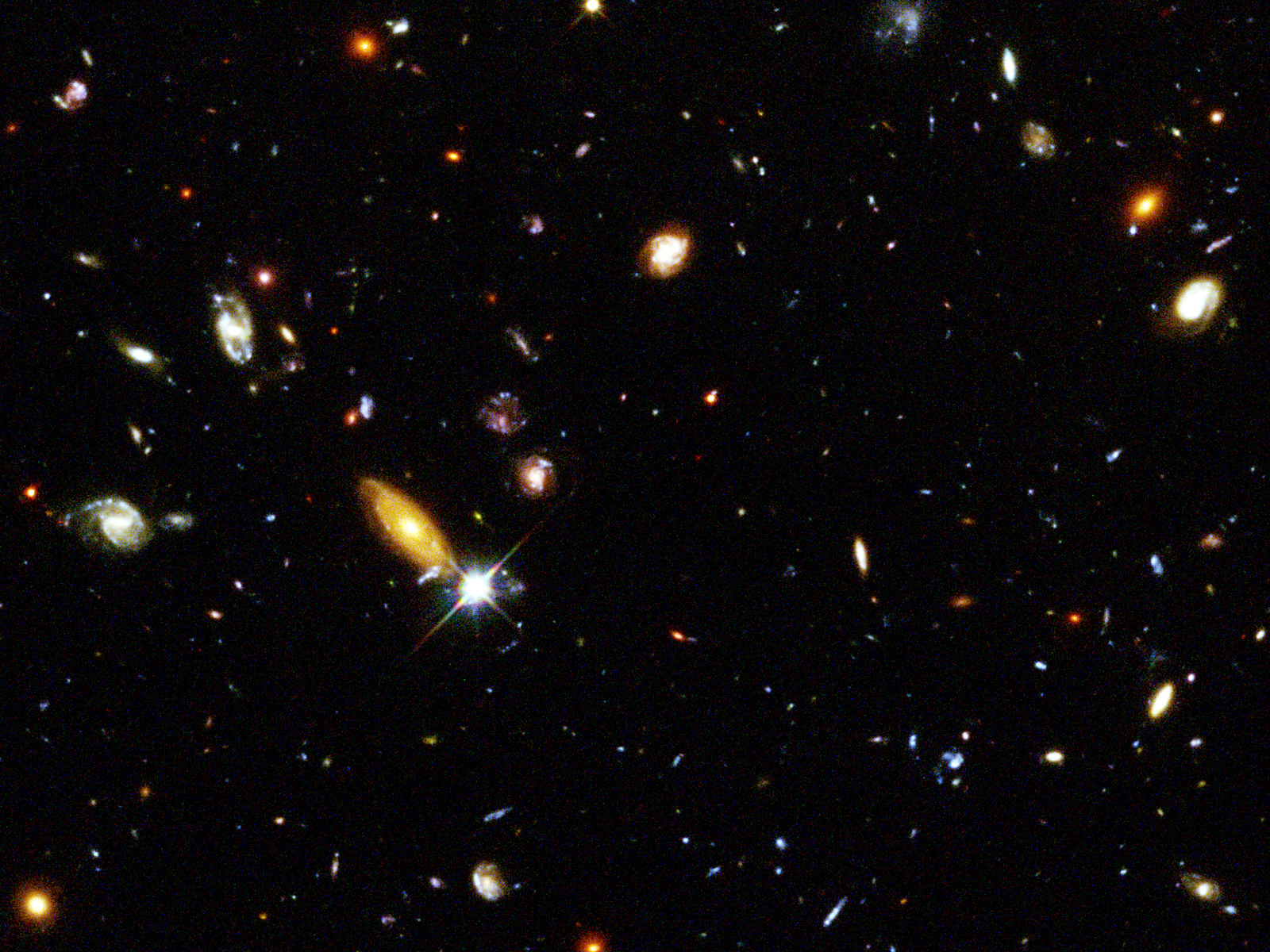 hubble deep field wallpaper 1600x1200-#6