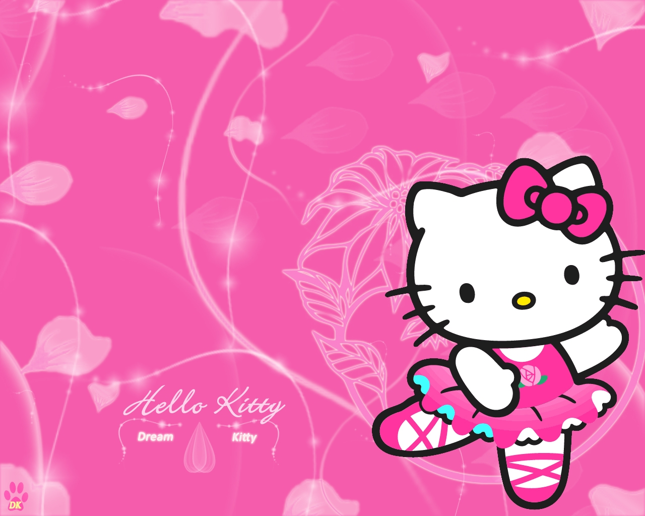 Hello Kitty Wallpaper 1280x1024 Hello Kitty Dream Kitty 1280x1024