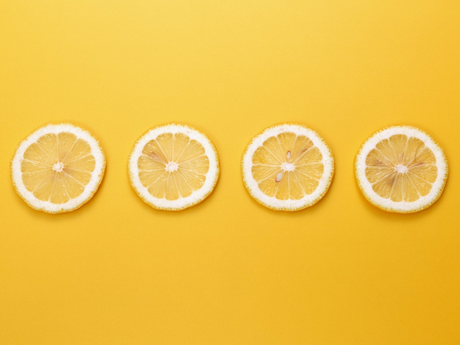 Free Download Cute Fruits Wallpaper 4 Lemons In A Line Yellow