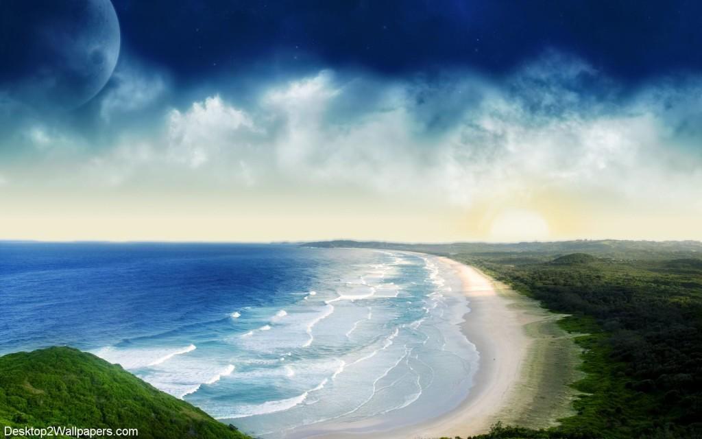 Animated Beach Waves Beach Waves Wallpaper 1024x640