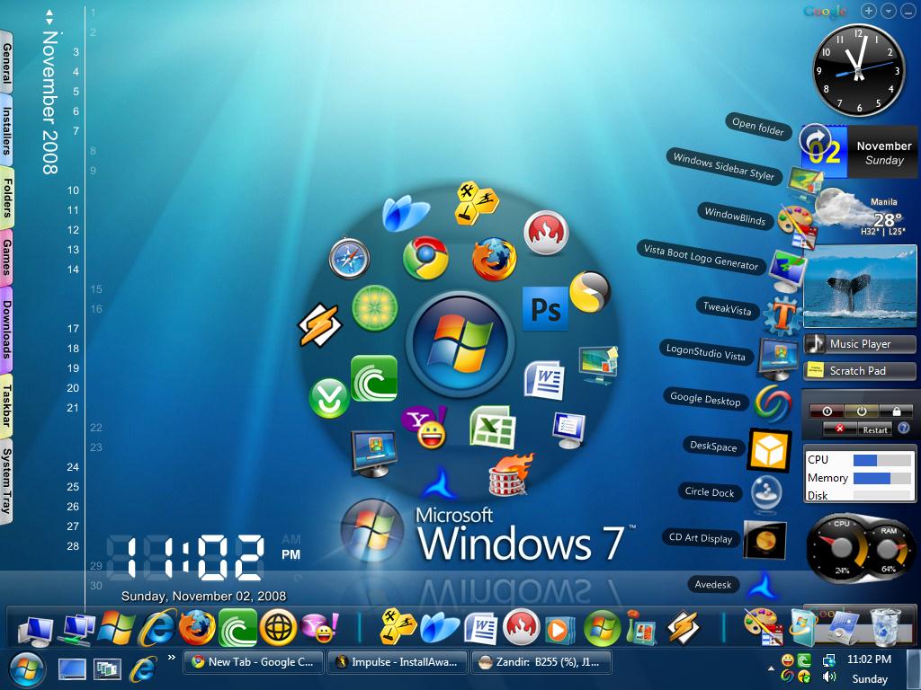 Clean Up Your Desktop In Windows 7 bench3 1024x768