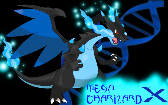 mega charizard X wallpaper by shockwave4494 640x400