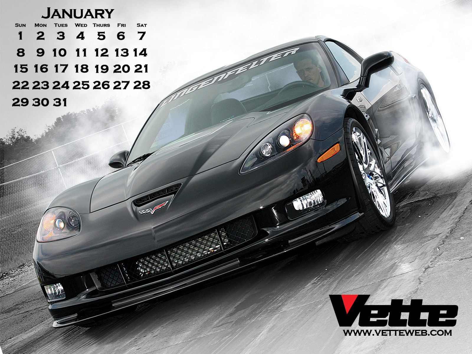 Thread Merry Christmas   Vette Mags 2012 January Calendar For Yall 1600x1200