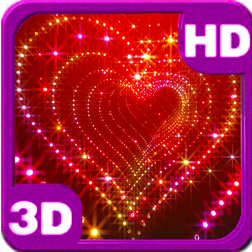 Sparkle 3D Glitter Heart Live Wallpaper for Android Hello Android 512x512