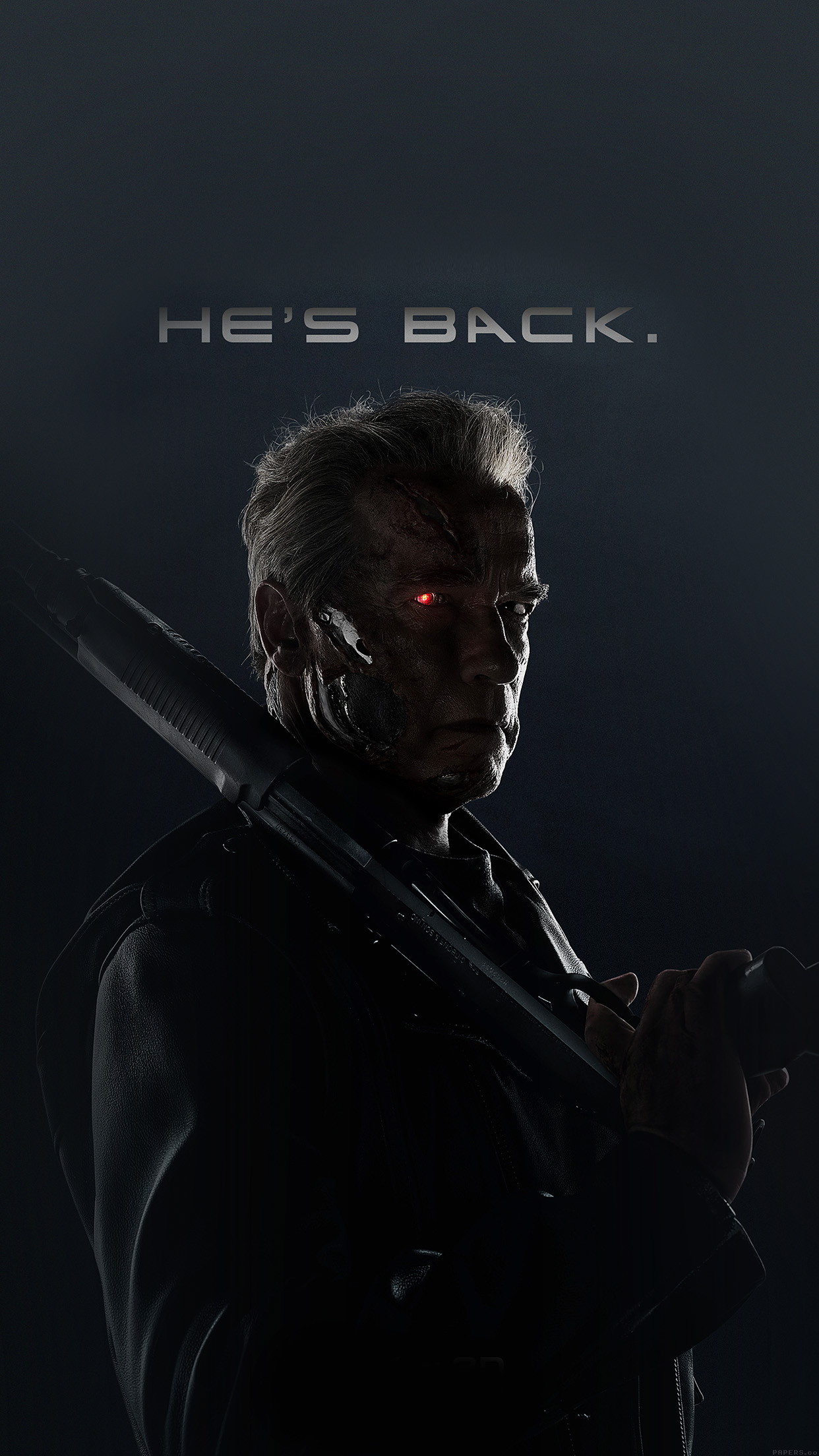 Terminator He Is Back Film Arnold Hero Android wallpaper   Android 1242x2208