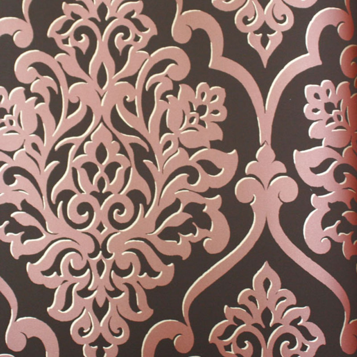 Red Damask Wallpaper For Sale Mood living nino red bronze 1200x1200