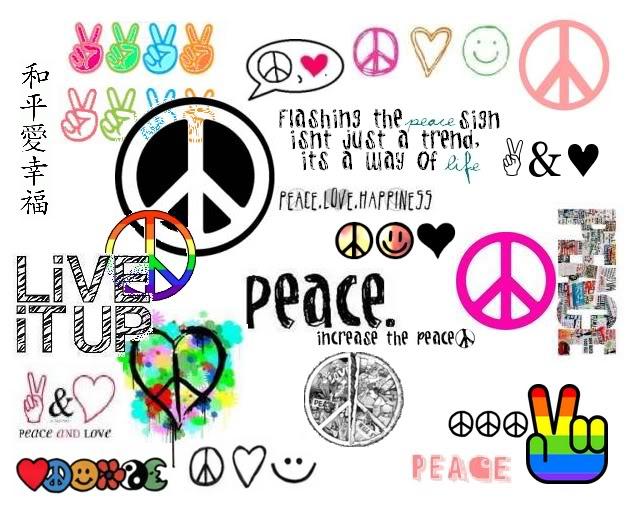 cool peace sign backgrounds wallpapersafari