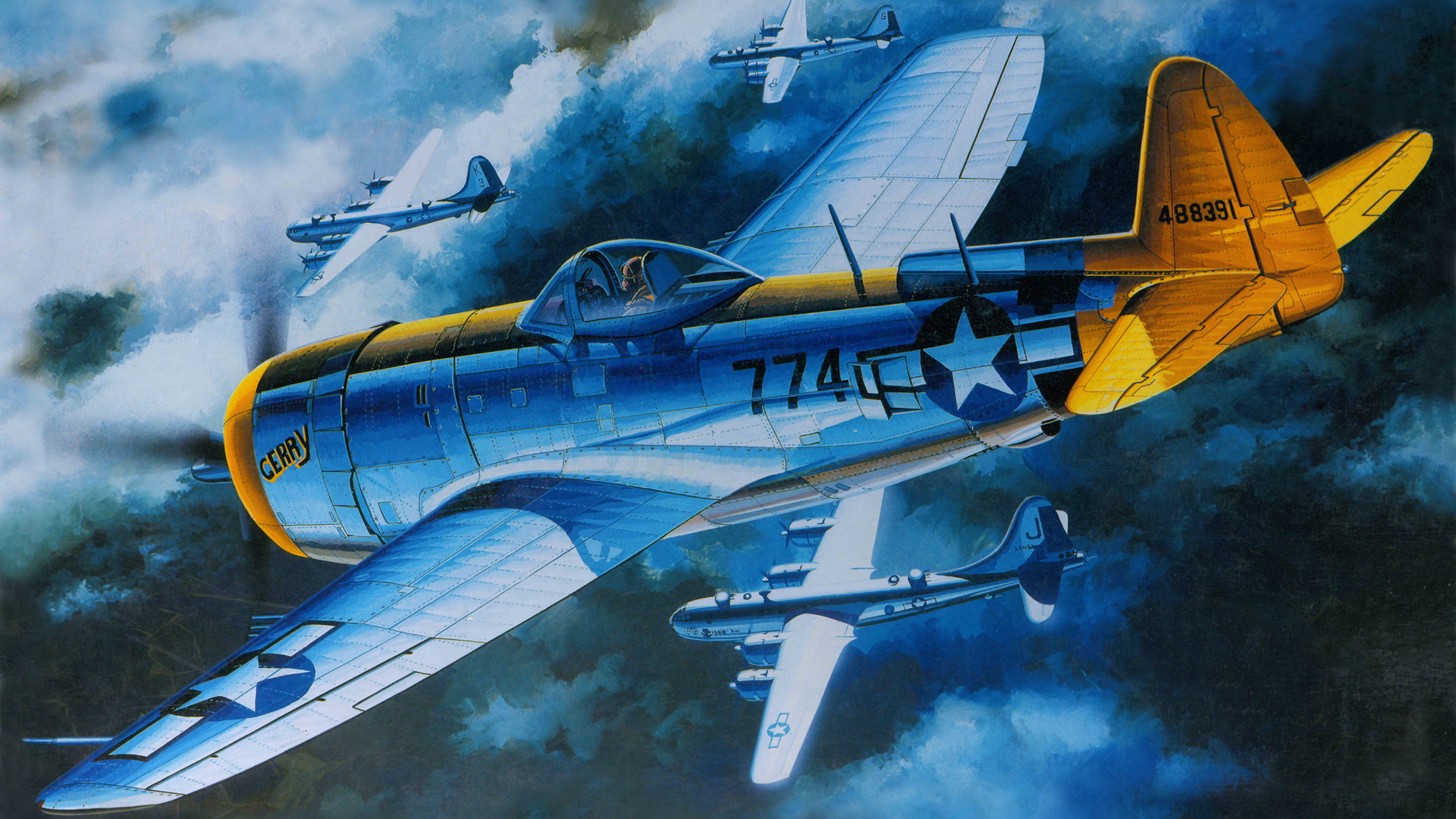 Wallpaper republic p 47 thunderbolt fighter bomber the us air 1680x1050