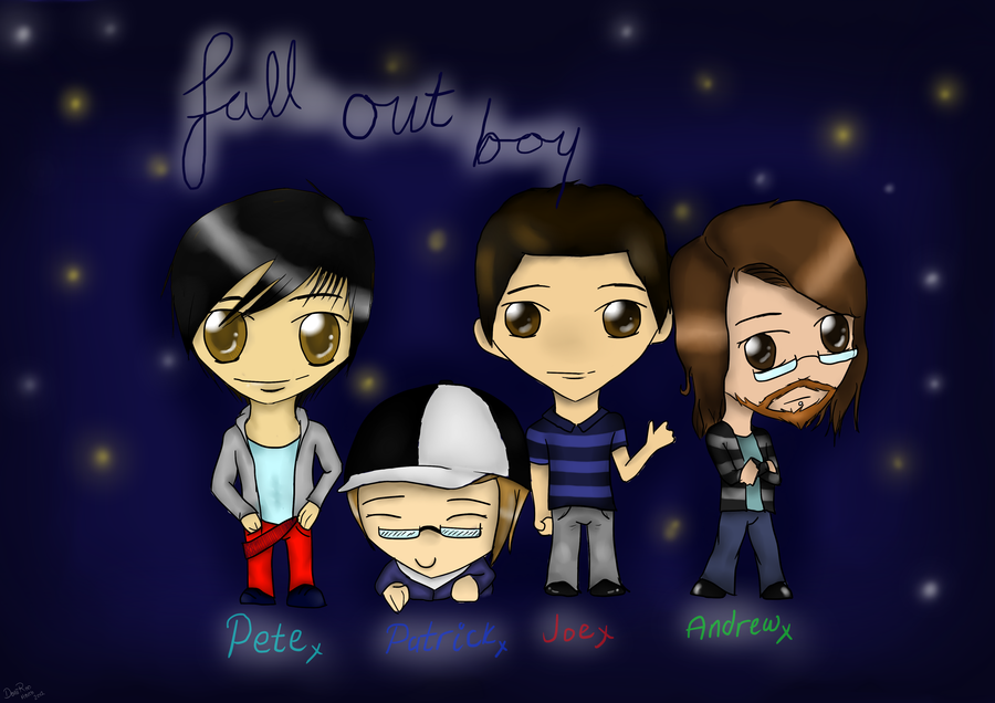 Fall Out Boy Chibis w Background by DaniiRoo 900x636