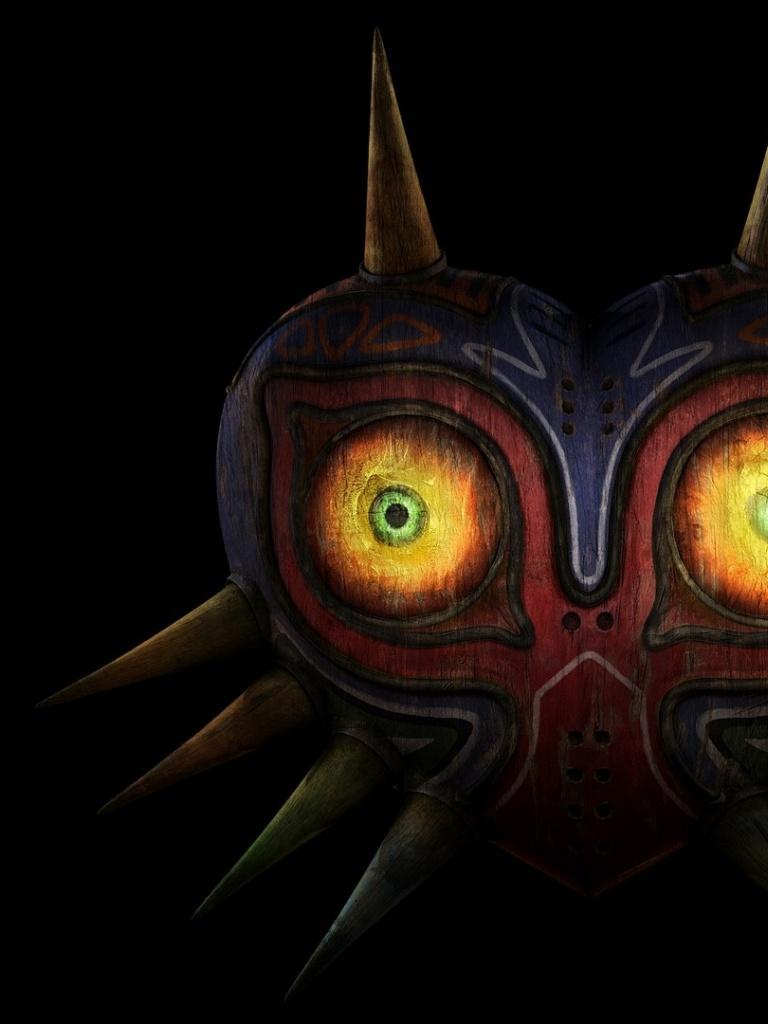 768x1024 The Legend Of Zelda Mask Ipad Wallpaper
